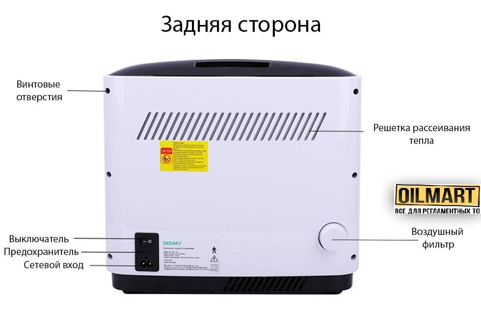 Кислородный концентратор, генератор кисневий DEDAKJ DE-1A (1-7L/min) - 2