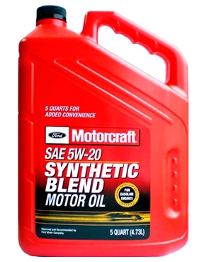 Ford Motorcraft 5W-20 Synthetic Blend Motor Oil XO-5W20-QSP XO-5W20-5QSP - 5639
